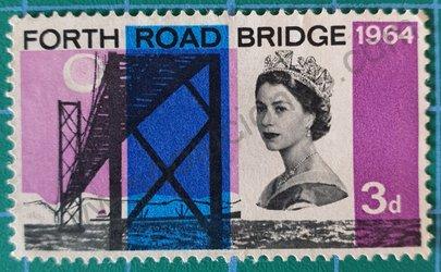 Sello Reino Unido 1964 Puente cuatro caminos