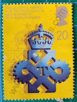 Sello premios por logros tecnológicos Reino Unido 1990