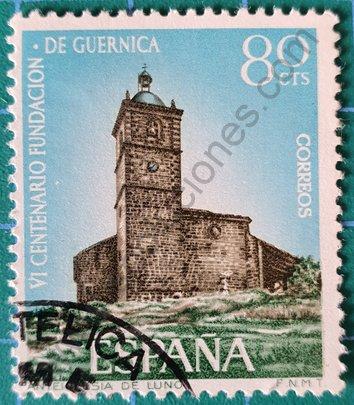 Sello Iglesia de Luno Guernica - España 1966