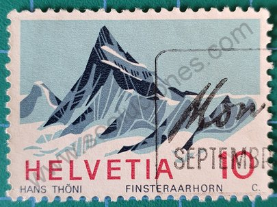 Sello Suiza 1966 Finsteraarhorn