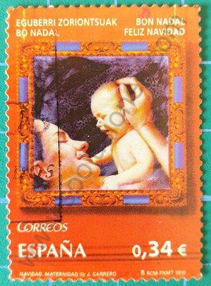 Sello España 2010 Madre y niño 0,34 €