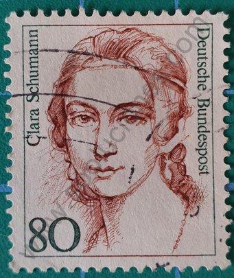 Sello Alemania 1986 Clara Schumann