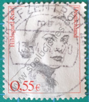 Sello Alemania 2002 Hildegard Knef