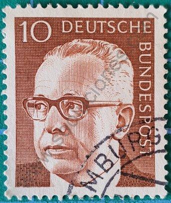 Sello Alemania 1970 Gustav Heinemann 10 Pf