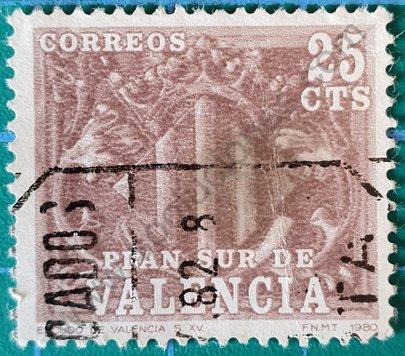 Sello Plan Sur Valencia 1981 - España