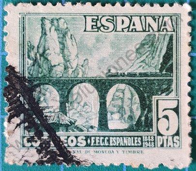 Sello Desfiladero de Pancorbo - España 1948