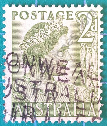 Sello Australia 1951 Elizabeth 2d