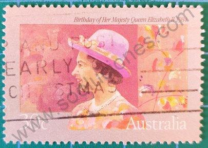 Sello Australia 1984 Cumpleaños 58 de Elizabeth II