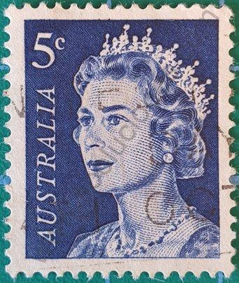 Sello Australia 1967 Elizabeth II - 5 c