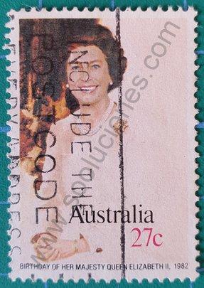 Sello Australia 1982 Elizabeth II - 27 c