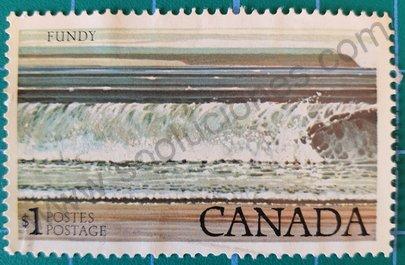Sello Canadá Bahía de Fundy - 1979