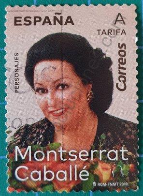 Sello Montserrat Caballé - España 2019