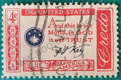 Sello Frase de Francis Scott Key - Estados Unidos 1960