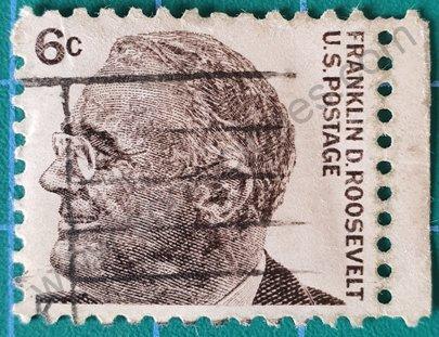 Sello Franklin Roosevelt 1966 - Estados Unidos