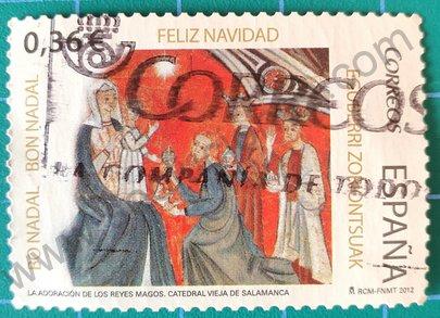 Sello Adoración de los reyes 2012 España
