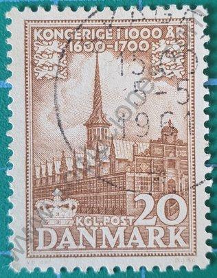 Sello Reino de Dinamarca 1955