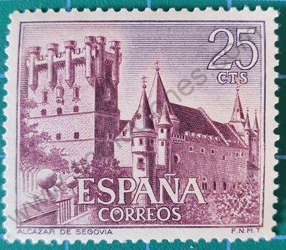 Sello Alcázar de Segovia - España 1966