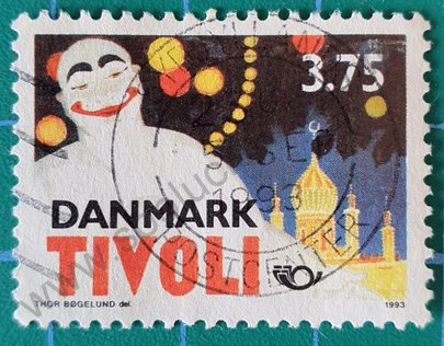 Sello Pierrot - Dinamarca 1993
