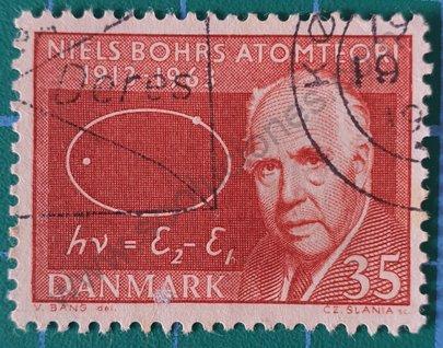 Sello Niels Bohrs - Dinamarca 1963