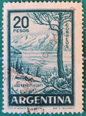 Sello Lago Nahuel Huapi - Argentina 1960