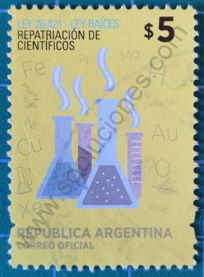 Sello Argentina 2014 Repatriación científicos