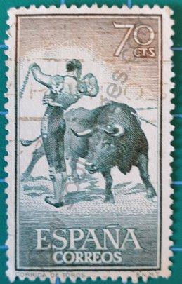 Sello España 1960 Banderillas