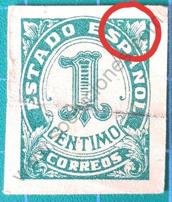 Sello Número 1 de España año 1936