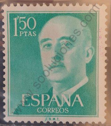 Sello Franco 1956 1'50 Ptas - España