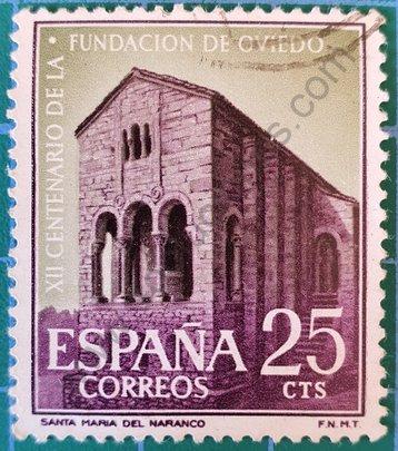 Iglesia de Santa María del Naranco - Sello España 1961