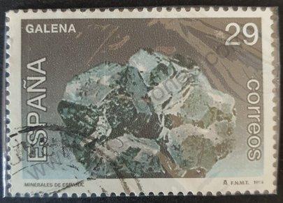 Sello Mineral Galena - España 1994