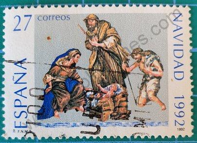 Sello Natividad de Obdulia Acevedo - España 1992