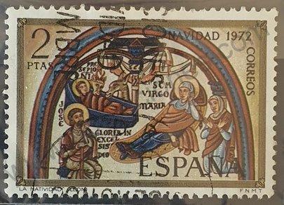 Sello Pesebre - Navidad 1972 España