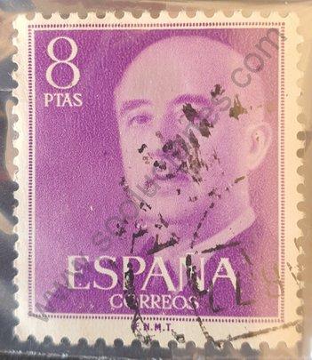 Sello Franco 1956 8 Ptas - España