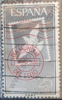 Sello 1961 Día mundial del sello - España