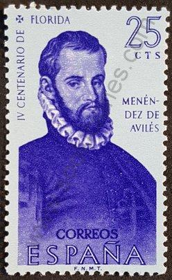 Menéndez de Avilés sello de España 1960