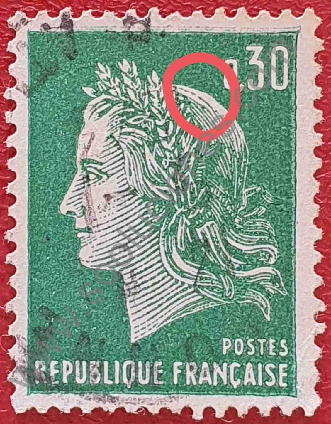 Sello Francia 1969 Marianne de Cheffer 0,30 ₣