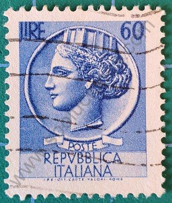 Sello Moneda Siracusa 60 Liras - Italia 1955