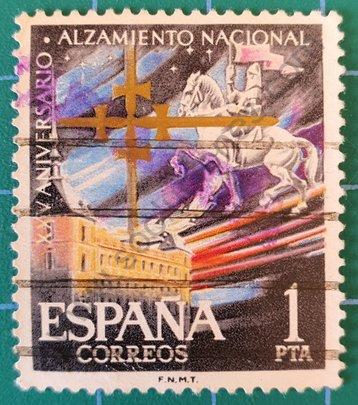 Sello Aniversario alzamiento nacional - España 1961