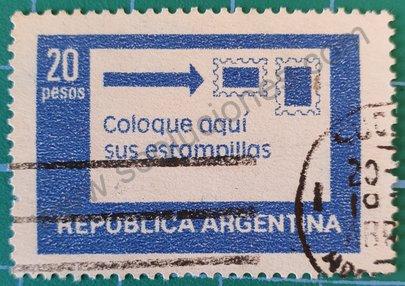 Sello Argentina 1978 colocación estampillas