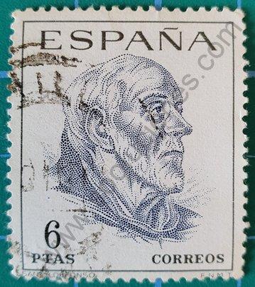 Sello San Ildefonso 1967 - España 6 Pta