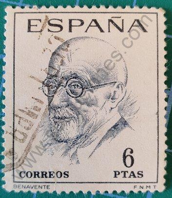 Sello Jacinto Benavente 1966 - España