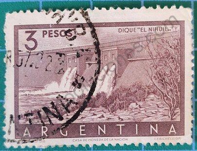 """Sello Dique """"EL Nihuil"""" - Argentina 1956"""