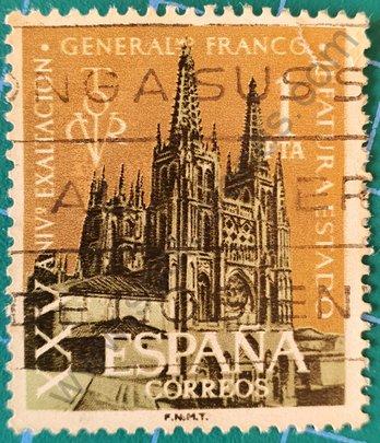 Sello Catedral de Burgos - España 1961
