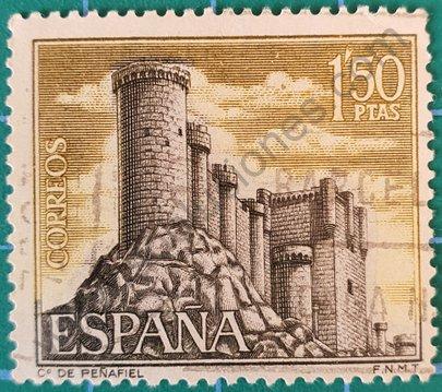 Sello Castillo de Peñafiel - España 1968