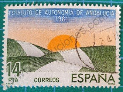 Sello Estatuto autonomia de Andalucia - España 1983