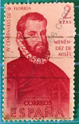 Sello Menéndez de Avilés - España 1960