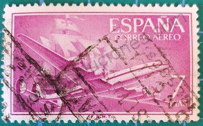 Avión Superconstellation 7 pta - España 1956