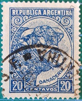 Sello Cabeza de Toro - Argentina 1951