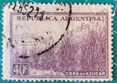 Sello Plantación de Caña de Azúcar - Argentina 1949