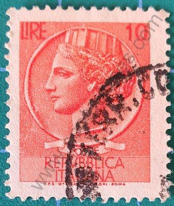 Sello Moneda de Siracusa 10L - Italia 1955